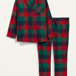 Patterned Flannel Plus-Size Pajama Set | Old Navy (US)