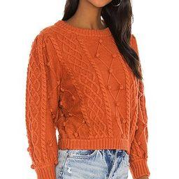 For Love & Lemons Florentina Sweater in Ginger from Revolve.com | Revolve Clothing (Global)