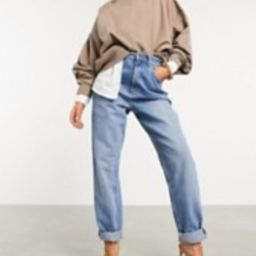 ASOS DESIGN high rise 'slouchy' mom jeans in midwash | ASOS (Global)