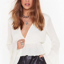 Plunge Forward Cropped Blouse | NastyGal (US & CA)