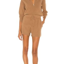 L'Academie Shannon Romper in Brown from Revolve.com   Revolve Clothing (Global)