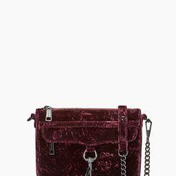 Dark Cherry Crushed Velvet Mini M.A.C. Crossbody Bag   Rebecca Minkoff   Rebecca Minkoff US