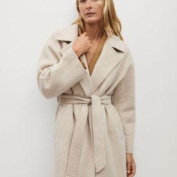 Belted wool coat | MANGO (US)