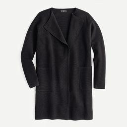 Juliette collarless sweater-blazer | J.Crew US