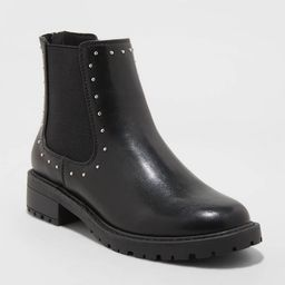 Women's Campbell Double Gore Studded Chelsea Boots - Universal Thread™ Black   Target