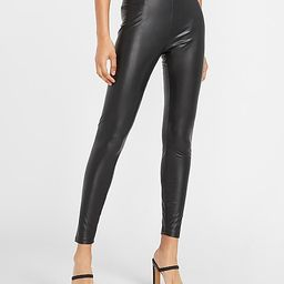 High Waisted Vegan Leather Stretch Ankle Leggings | Express