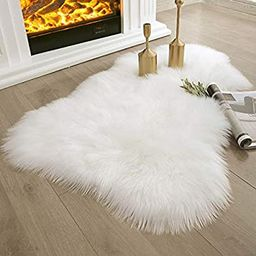 Ashler Soft Faux Sheepskin Fur Rug Chair Couch Cover White Area Rug Bedroom Floor Sofa Living Roo... | Amazon (US)