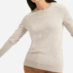Women's Cashmere Crew Sweater by Everlane in Light Oatmeal, Size XS   Everlane
