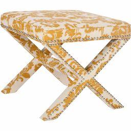 Safavieh Palmer Transitional Cross Leg Upholstered Ottoman | Walmart (US)