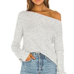 Lovers + Friends Alayah Off Shoulder Sweater in Grey from Revolve.com | Revolve Clothing (Global)