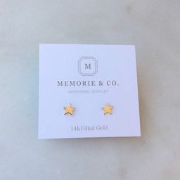 Gold Star Studs   14k Gold Filled Star Stud Earrings   Minimalist Earrings   Star Earrings   Etsy (US)
