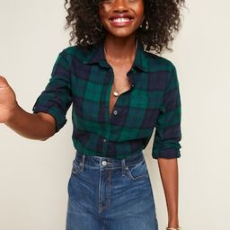 Women / TopsClassic Plaid Flannel Shirt for Women | Old Navy (US)