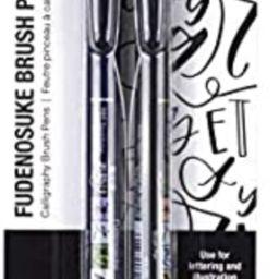Tombow Fudenosuke Brush Pens (2-Pack) | Amazon (US)