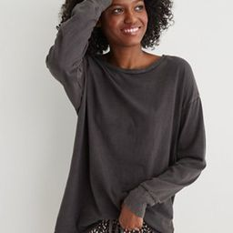 Aerie Long Sleeve Oversized Crewneck T-Shirt   American Eagle Outfitters (US & CA)