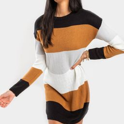 Sadie Long Sleeved Striped Dress | Francesca's Collections