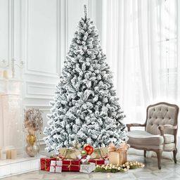 Premium Snow Green Pine Artificial Christmas Tree   Wayfair North America