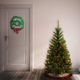 Aspen Spruce 4' Green Spruce Christmas Tree with 100 Multi-Color Lights   Wayfair North America