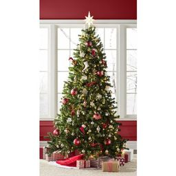 Norwood Fir Green Spruce Artificial Christmas Tree with Clear/White Lights   Wayfair North America