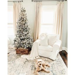 Patagonia White Flocking Fir Artificial Christmas Tree with 350 Clear Lights   Wayfair North America