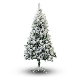 PVC Snow Flocked Pine Artificial Christmas Tree   Wayfair North America