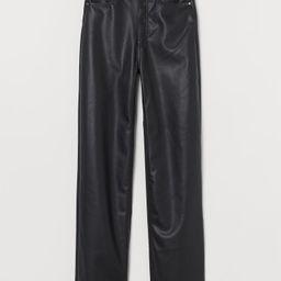 Faux Leather Pants   H&M (US)
