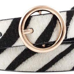 Snakeskin Leopard Zebra Grain Women PU Leather Narrow Waist Belt Ring Buckle for Lady & Girl | Amazon (US)