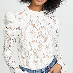 Emma Puff Sleeve Lace Top | Shopbop