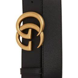 Women's Gucci Cintura Donna Leather Belt, Size 90 - Black   Nordstrom