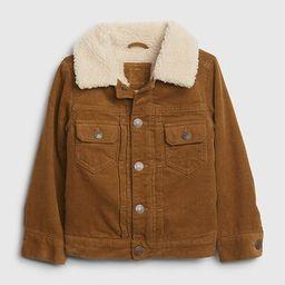 Toddler Sherpa Lined Cord Jacket | Gap (US)