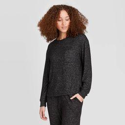Women's Perfectly Cozy Lounge Sweatshirt - Stars Above Charcoal L, Grey | Target