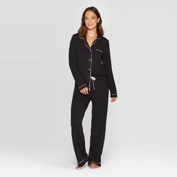 Women's Beautifully Soft Notch Collar Top and Pants Pajama Set - Stars Above™ | Target