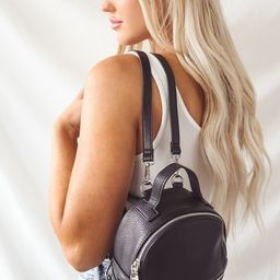 Jacki Black Convertible Mini Backpack | Lulus (US)