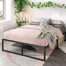 Zinus Lorelai 14 Inch Metal Platform Bed Frame / Steel Slat Support / No Box Spring Needed / Unde...   Amazon (US)