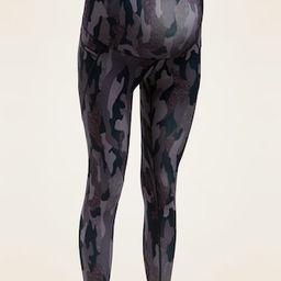Maternity Full-Panel Elevate Powersoft Side-Pocket 7/8-Length Leggings | Old Navy (US)