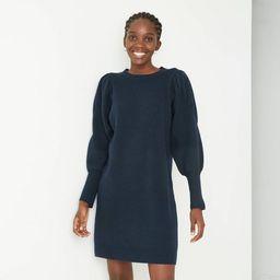 Women's Puff Long Sleeve Sweater Dress - A New Day™ | Target