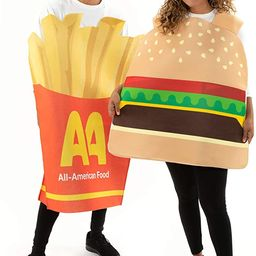 Burger & Fries Halloween Couple Costumes - Funny Unisex Food Suits for Adults Brown   Amazon (US)