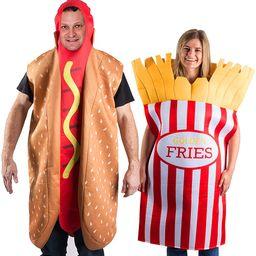 Tigerdoe Hotdog and French Fries Couple Costume - Halloween Funny Costume - Food Costume - Novelt...   Amazon (US)