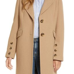 Notched Collar Wool Blend Coat | Nordstrom