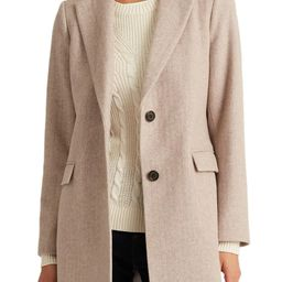 Herringbone Blazer Wool Blend Coat | Nordstrom