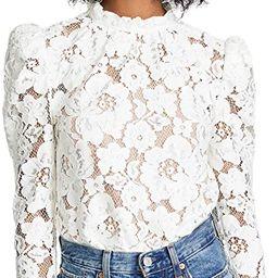 WAYF Women's Emma Puff Sleeve Lace Top | Amazon (US)