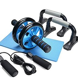 Odoland 4-in-1 AB Wheel Roller Kit AB Roller Pro with Push-Up Bar, Jump Rope and Knee Pad - Perfe... | Amazon (US)