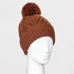 Women's Cable Knit Pom Beanie - Universal Thread™ One Size   Target