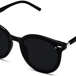 SOJOS Classic Round Retro Plastic Frame Vintage Large Sunglasses BLOSSOM SJ2067 | Amazon (US)
