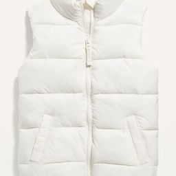 Frost-Free Solid Puffer Vest for Girls | Old Navy (US)