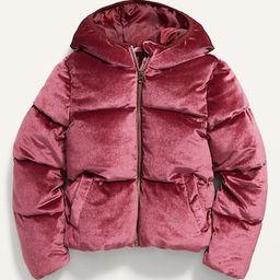 Frost-Free Velvet Puffer Jacket for Girls | Old Navy (US)