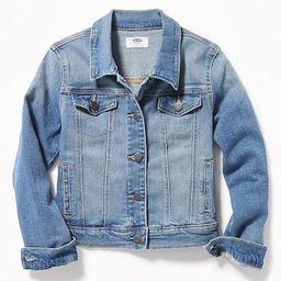 Medium-Wash Jean Jacket For Girls | Old Navy (US)