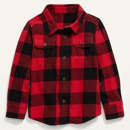 Plaid Flannel Pocket Shirt for Toddler Boys | Old Navy (US)