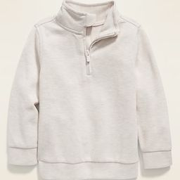 1/4-Zip French Rib Sweater for Toddler Boys | Old Navy (US)