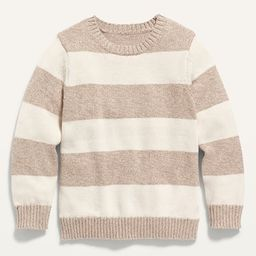 Striped Crew-Neck Pullover Sweater for Toddler Boys | Old Navy (US)