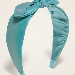 Fabric-Covered Bow-Tie Headband for Girls | Old Navy (US)